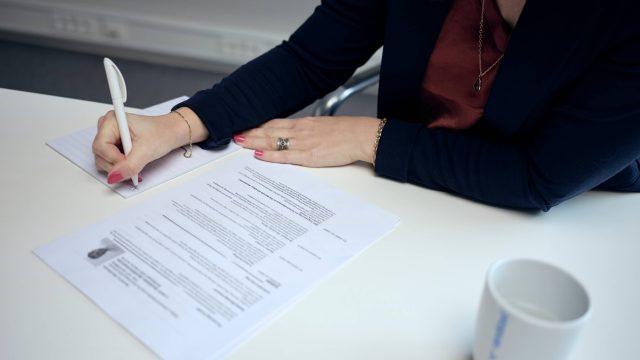 sjekkliste for jobbsøknaden.